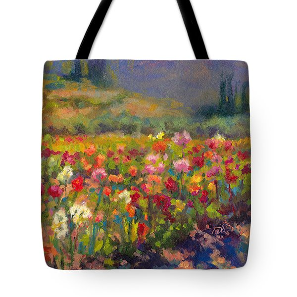 Dahlia Row Tote Bag