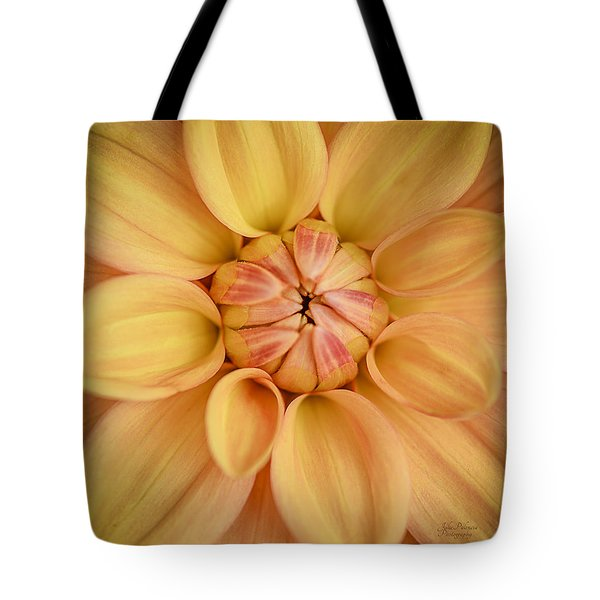 Dahlia Squared Tote Bag by Julie Palencia