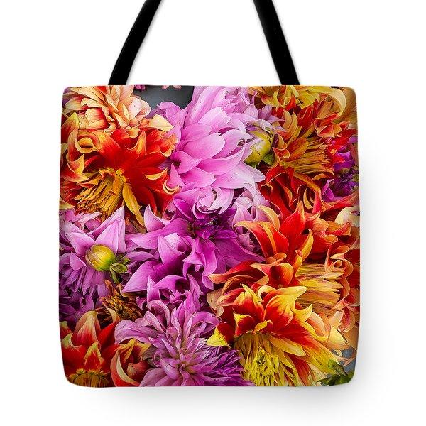 Dahlia Swirl Tote Bag