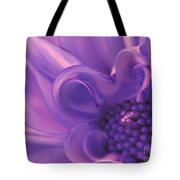 Dahlia Swirl Lavender Tote Bag by Olivia Hardwicke