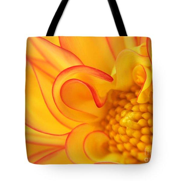 Dahlia Swirls Tote Bag by Olivia Hardwicke