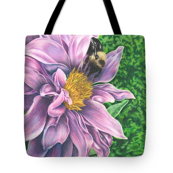 Dahlia Tote Bag by Troy Levesque