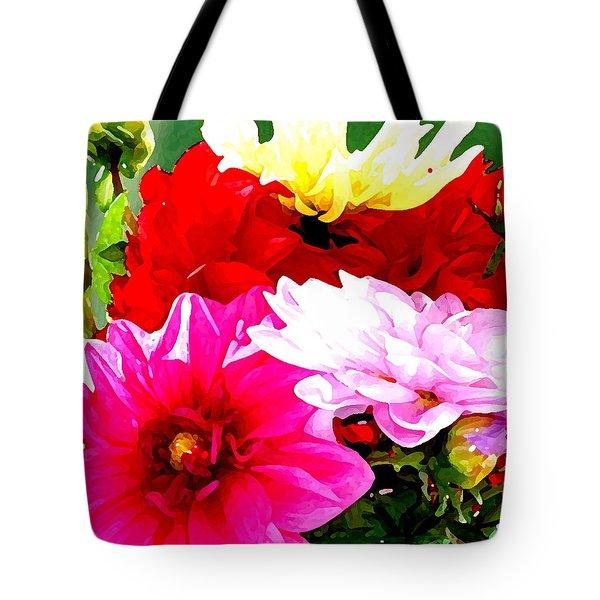 Dahlias  Tote Bag by Lehua Pekelo-Stearns