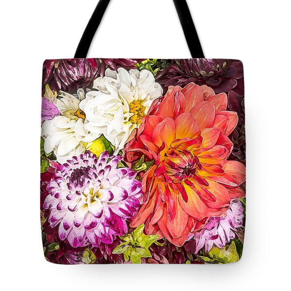 Dahlias Number 4 Tote Bag