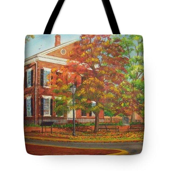 Dahlonega's Gold Museum In Autumn Tote Bag