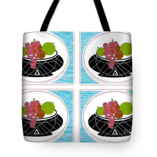 Tote Bag featuring the digital art Daily Fruit by Ann Calvo