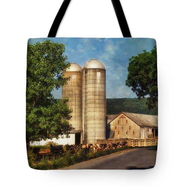 Dairy Farming Tote Bag by Lois Bryan