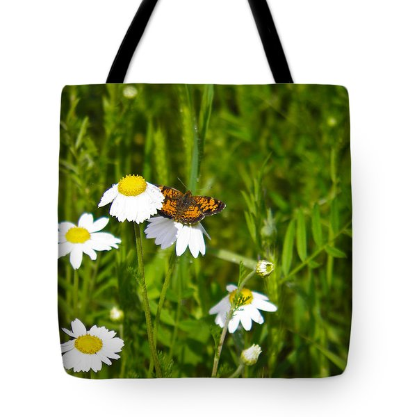 Daisey And Butterfly Tote Bag