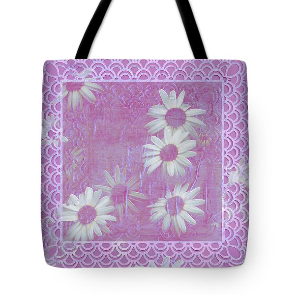 Tote Bag featuring the photograph Daisies And Paper Lace by Sandra Foster