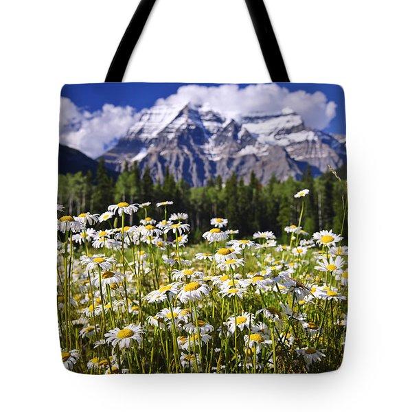 Daisies at Mount Robson Tote Bag by Elena Elisseeva