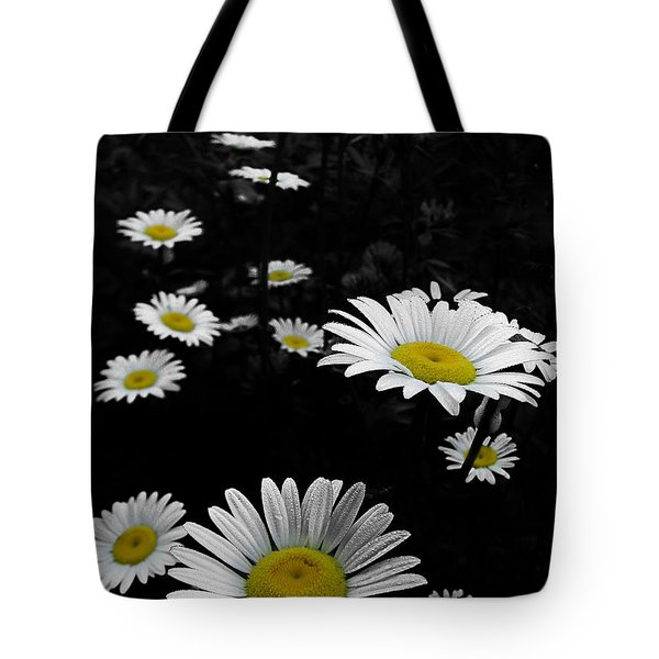 Daisies Tote Bag by GJ Blackman