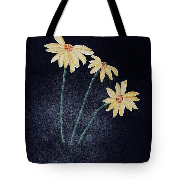 Daisies In The Mist Tote Bag