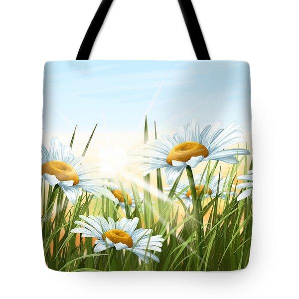 Daisies Tote Bag by Veronica Minozzi