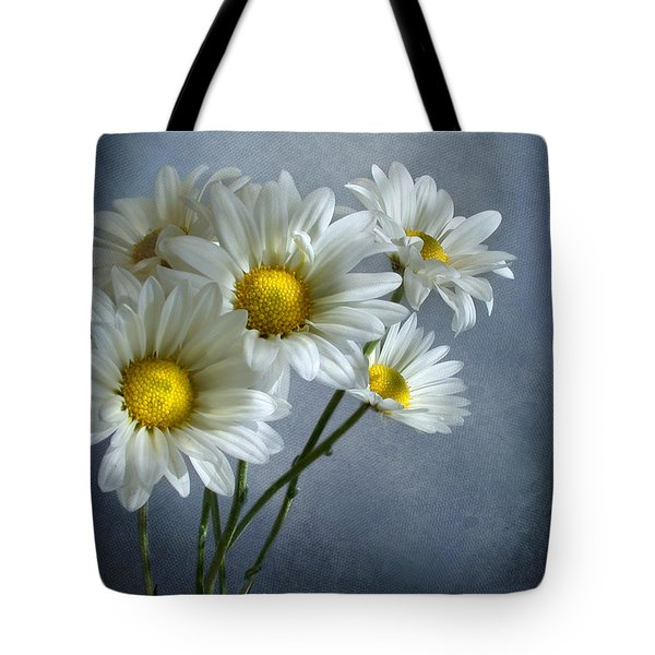 Tote Bag featuring the photograph Daisy Bouquet by Ann Lauwers