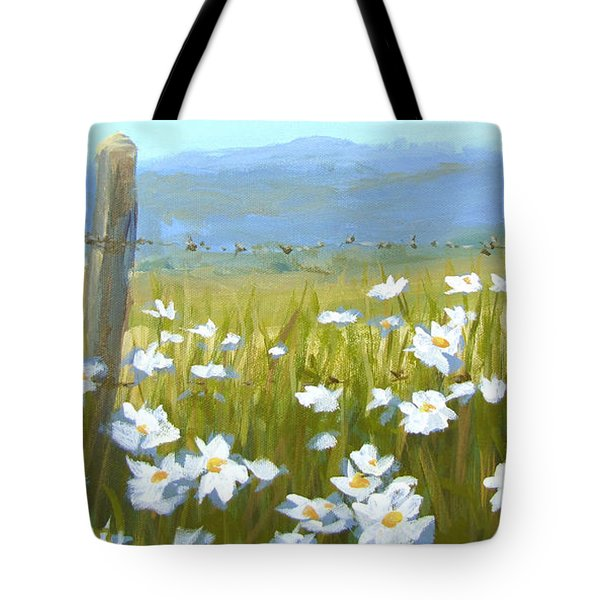 Daisy Dance Tote Bag by Karen Ilari