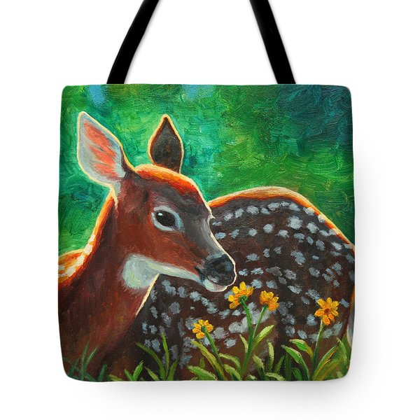 Daisy Deer Tote Bag by Crista Forest