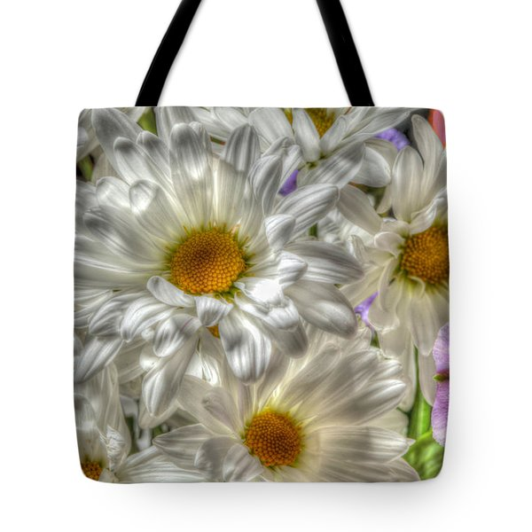 Daisy Faces Tote Bag by Ray Congrove