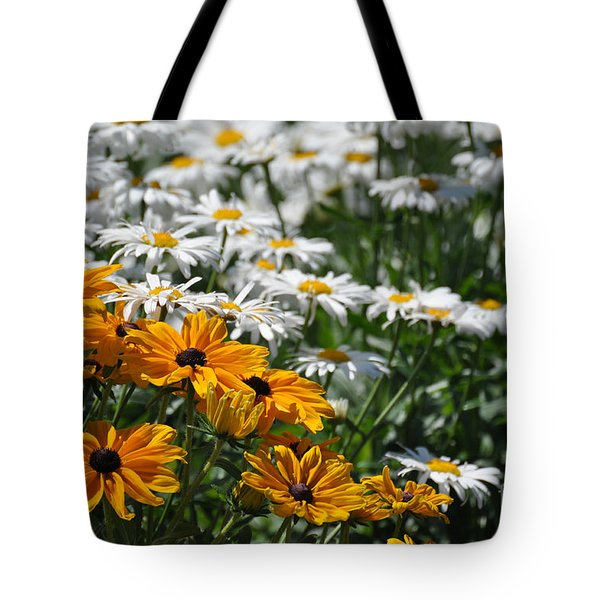 Tote Bag featuring the photograph Daisy Fields by Bianca Nadeau