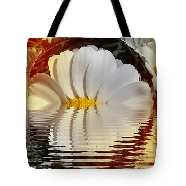 Daisy Fractal Tote Bag by Nancy Pauling