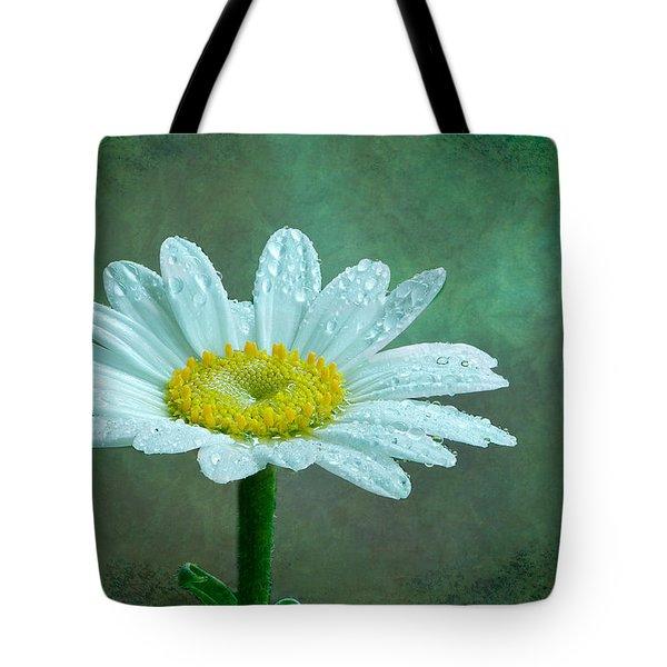 Daisy In The Rain Tote Bag