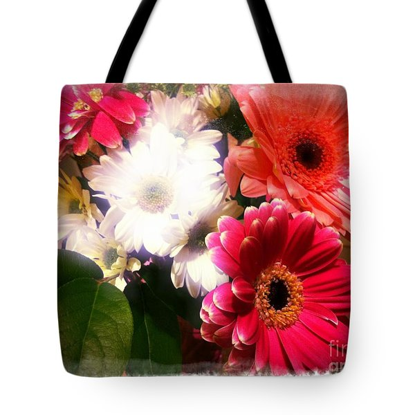 Tote Bag featuring the photograph Daisy January by Meghan at FireBonnet Art