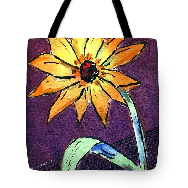 Daisy On Dark Background Tote Bag