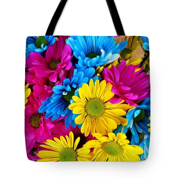 Tote Bag featuring the photograph Daisys Flowers Bloom Colorful Petals Nature by Paul Fearn
