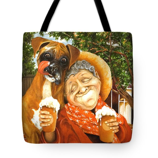 Daisy's Mocha Latte Tote Bag by Shelly Wilkerson