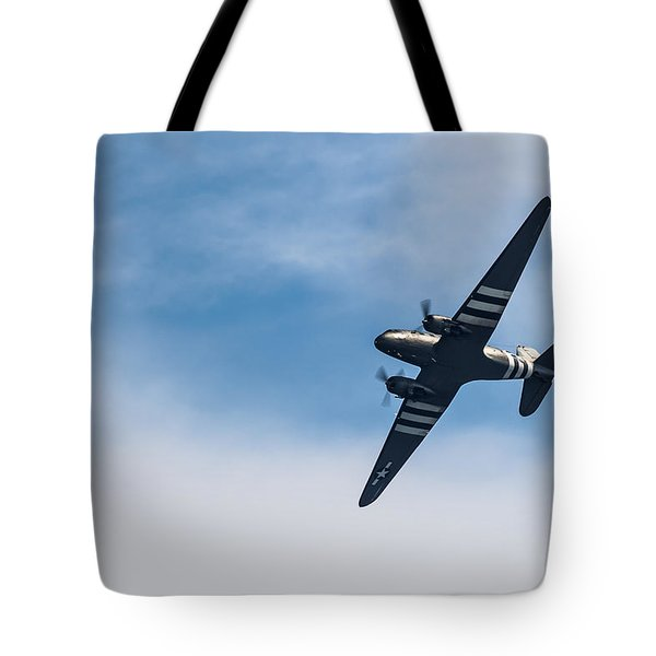 Tote Bag featuring the photograph Dakota D-day Markings by Scott Lyons