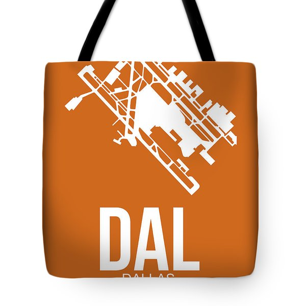 Dal Dallas Airport Poster 2 Tote Bag by Naxart Studio