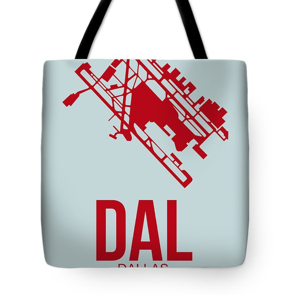Dal Dallas Airport Poster 4 Tote Bag by Naxart Studio