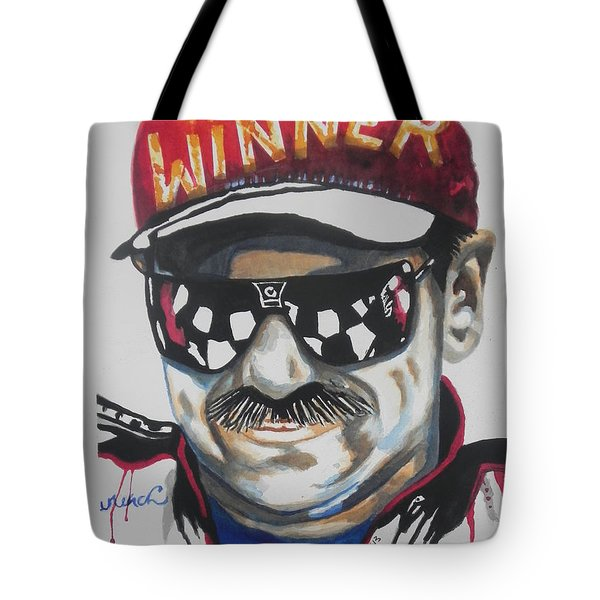 Dale Earnhardt Sr Tote Bag by Chrisann Ellis