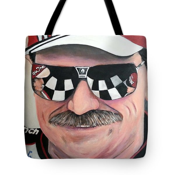 Dale Earnhardt Sr Tote Bag by Tom Carlton