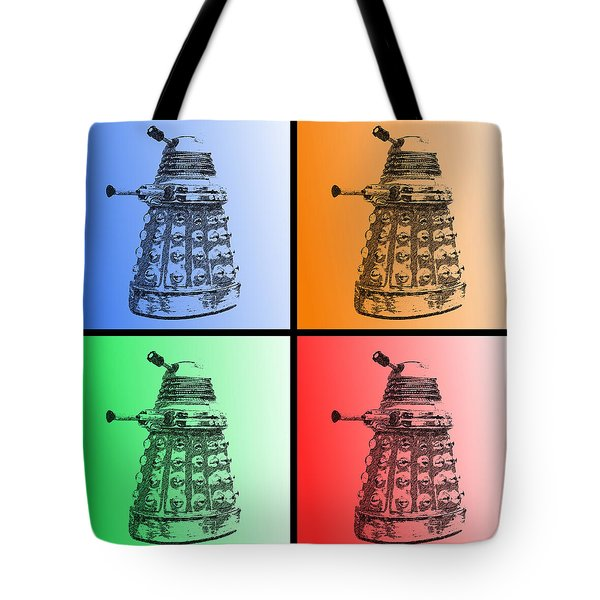Dalek Pop Art Tote Bag