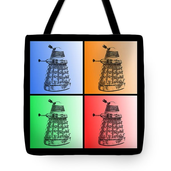 Dalek Pop Art Tote Bag by Richard Reeve