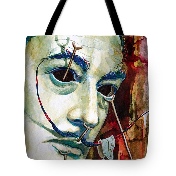 Tote Bag featuring the painting Dali 2 by Laur Iduc
