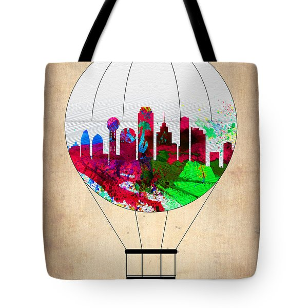 Dallas Air Balloon Tote Bag by Naxart Studio
