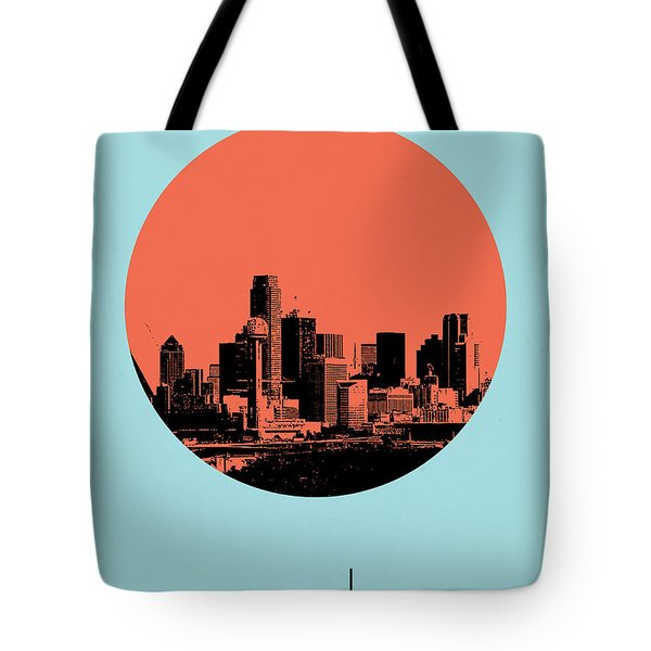 Dallas Circle Poster 1 Tote Bag by Naxart Studio