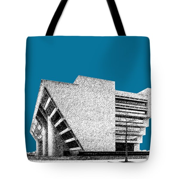 Dallas Skyline City Hall - Steel Tote Bag