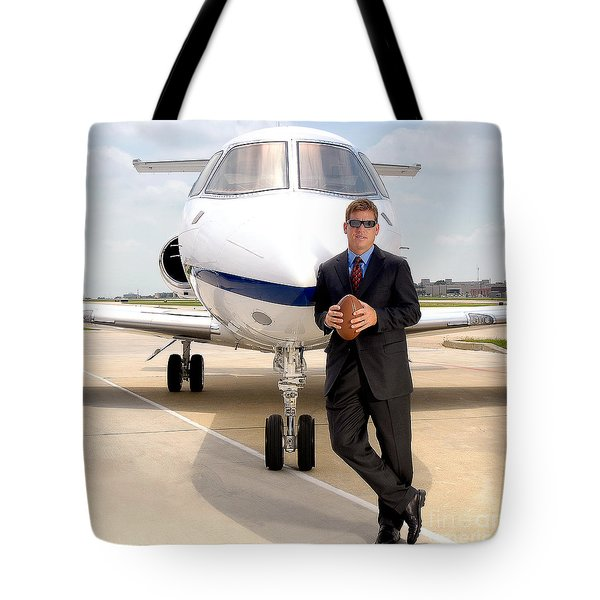 Dallas Cowboys Superbowl Quarterback Troy Aikman Tote Bag