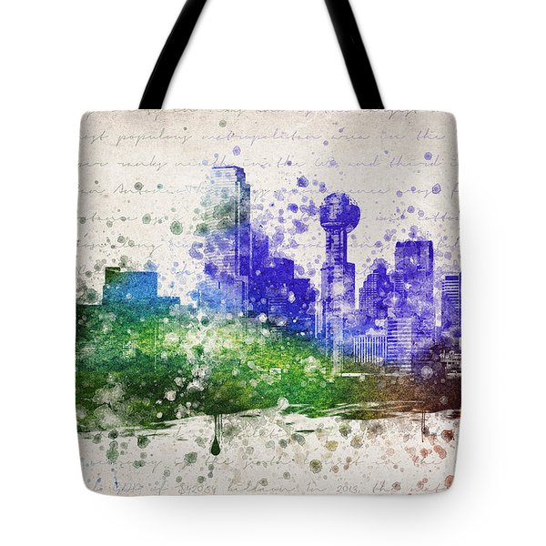 Dallas In Color Tote Bag by Aged Pixel
