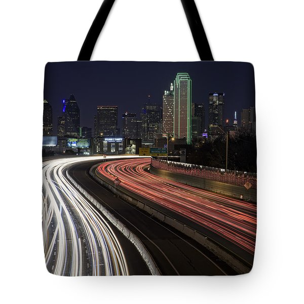 Dallas Night Tote Bag by Rick Berk