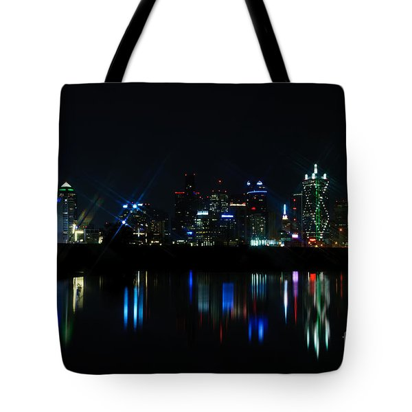 Dallas Reflections Tote Bag by Charles Dobbs