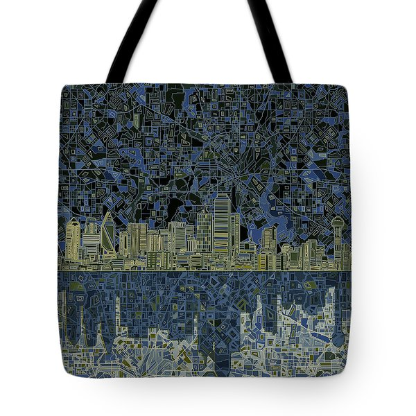 Dallas Skyline Abstract 2 Tote Bag