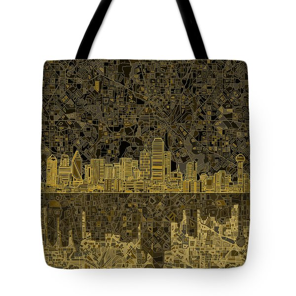Dallas Skyline Abstract 3 Tote Bag