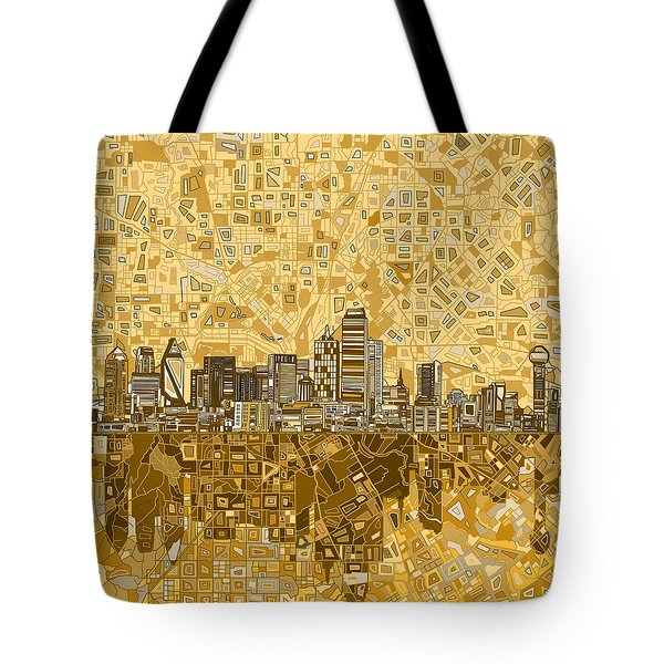 Dallas Skyline Abstract 6 Tote Bag