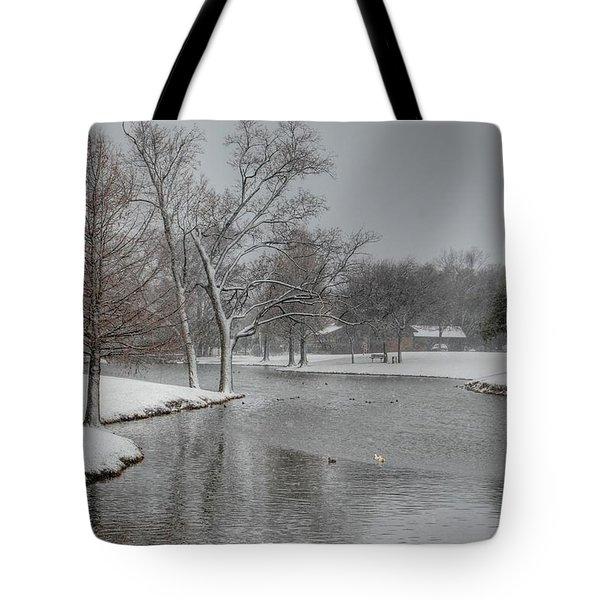 Dallas Snow Day Tote Bag