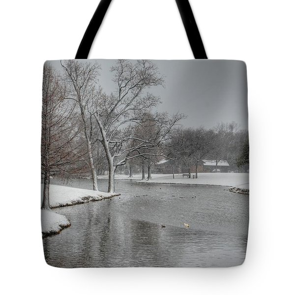 Dallas Snow Day Tote Bag