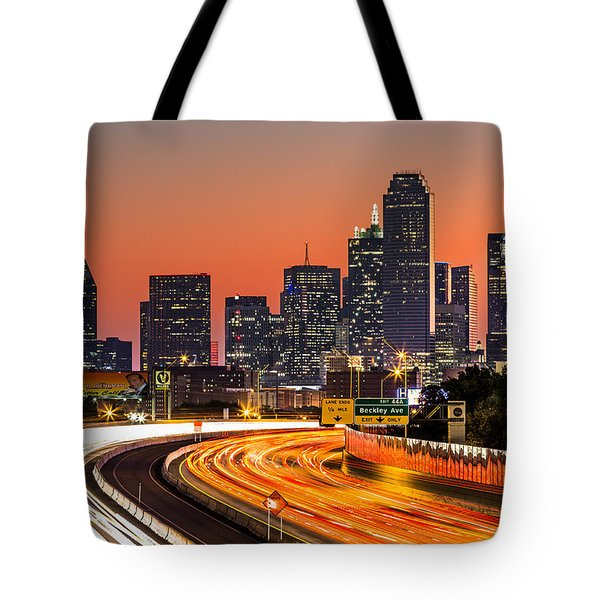 Dallas Sunrise Tote Bag by Mihai Andritoiu