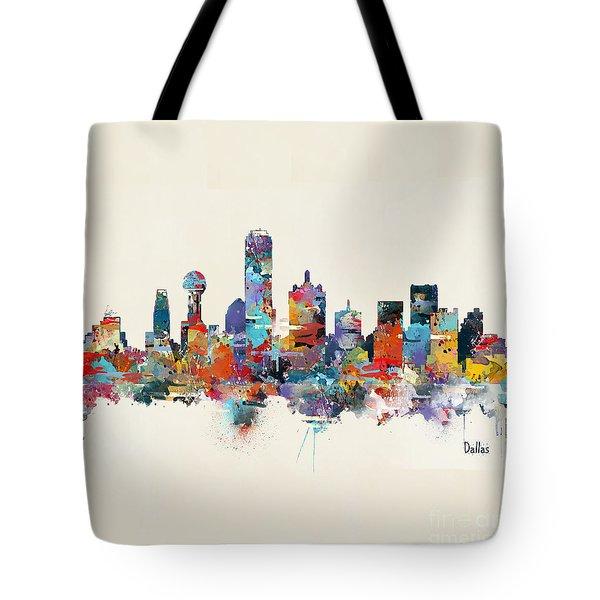 Dallas Texas Skyline Square Tote Bag